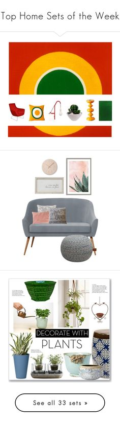 """""""Top Home Sets of the Week"""" by polyvore ❤ liked on Polyvore featuring interior, interiors, interior design, home, home decor, interior decorating, homedecor, homedesign, artinspired and artinspiration"""