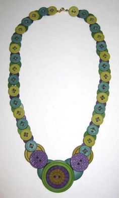 @: Button Necklace | Rit Dye & DIY instructions on putting it together