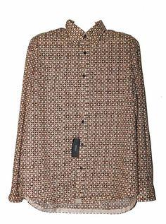 Hugo Boss Brown Button Down Austin Men's Long Sleeve Dress Shirt Size 2XL NEW #HUGOBOSS