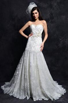 Strapless A Line Wedding Dress