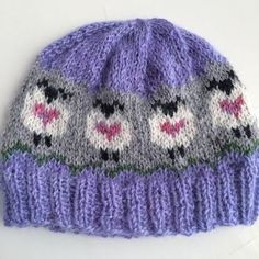 Sheep Love Hat pattern by Donna Kay Knitting Charts, Knitting Patterns, Crochet Patterns, Knitting Ideas, Crochet Baby, Knit Crochet, Baby Fair, Christmas Hat, Christmas Crack