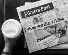 newspaper #blackandwhite #coffee