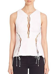KENDALL + KYLIE Lace-Up Top