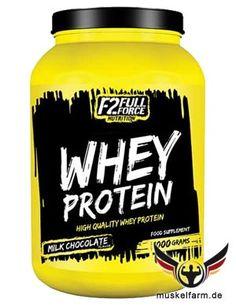 F2 Full Force Whey Protein aus qualitativ hochwertigem Molkenprotein, trägt  zum Muskelaufbau und dem Erhalt von Muskelmasse bei, ergänzt mit Taurin.
