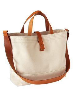 Structured Canvas Tote