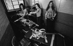 Van Halen backstage in 1978