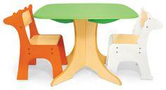 @kristinsmock - omg  Safari Collection, Tree Table With Giraffe & Zebra Chairs - contemporary - kids tables - P'kolino
