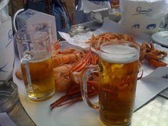 Cartuchos, cervecitas y buen marisco en Romerijo El Puerto, mhhhh