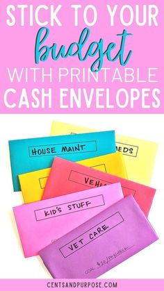 Grab some paper and print an envelope for each budget category (see pics for examples). Using a cash system ensures you only spend what you have budgeted for each category! Ways To Save Money, Money Saving Tips, Money Tips, Money Budget, Budgeting Finances, Budgeting Tips, Cash Envelope System, Budget Binder, Cash Envelopes