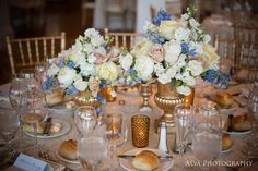 champagne and gold wedding reception | florals and decor beautiful blooms venue philadelphia cricket club ...