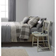 Buy John Lewis Brushed Cotton Herringbone Duvet Cover and Pillowcase Set Online at johnlewis.com