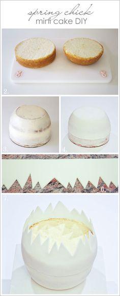 How to make an egg shell cake.. @thecakeblog