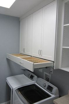 DIY Laundry Room Storage Shelves Ideas Laundry room decor Small laundry room organization Laundry closet ideas Laundry room storage Stackable washer dryer laundry room Small laundry room makeover A Budget Sink Load Clothes Laundry Room Remodel, Laundry Room Cabinets, Laundry Room Organization, Organization Ideas, Diy Cabinets, Storage Ideas, Laundry Organizer, Laundry Rack, Laundry Room Drying Rack