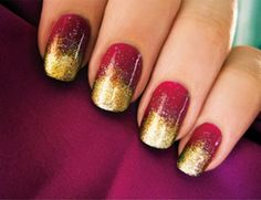 Red and Gold nails - Wedding Stuff