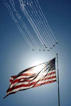 Planes fly in formation past the American flag during the national anthem before a NASCAR Sprint Cup Series auto race at Kansas Speedway in Kansas City Kan. on Sunday Oct. 5 - America Flag - Ideas of America Flag I Love America, God Bless America, Awesome America, Independencia Usa, Independance Day, My Champion, Let Freedom Ring, Home Of The Brave, Land Of The Free