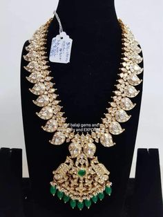 Gold Earrings Designs, Gold Jewellery Design, Antique Jewellery, Diamond Jewellery, Necklace Designs, Gold Jewelry, Temple Jewellery, Bridal Jewellery, Wedding Jewelry