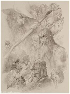 A collaborative effort of John How and Alan Lee for the 2013 Tolkien Calendar.