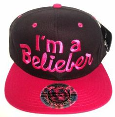 I'm a Belieber Snapback Justin Bieber Flat Bill Hat