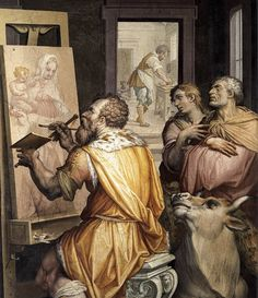 St Luke Painting the Virgin (detail) VASARI Giorgio (Arezzo, 30 luglio 1511 – Firenze, 27 giugno 1574)   #TuscanyAgriturismoGiratola