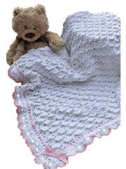 """Darling """"Fluffy Clouds Blanket""""...pattern to buy!"""