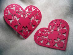 Items similar to Heart Paper Piece Set of Very Beautiful Heart Paper Laces Scrapbooking Die Cut Embellishments on Etsy Very Lovely, Beautiful, Die Cut Paper, Paper Lace, Scrapbook Embellishments, Paper Hearts, Small Heart, Homemade Cards, Altered Art