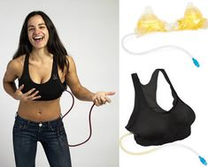 Hide liquor and increase your bust size at the same time with this innovative Wine Rack ($29.99).
