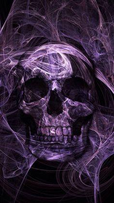 Heads up, skull lovers, IT'S CONTEST TIME AGAIN! Skull Wallpaper, Photo Wallpaper, Wallpaper App, Scary Wallpaper, Halloween Wallpaper, Moto Violet, Dark Fantasy Art, Dark Art, Badass Skulls