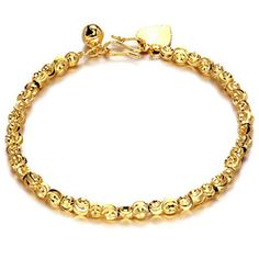 Ms Korean Jewelry Jewelry K Gold Plated Fine Bead Chain Bracelets With Allergy KS