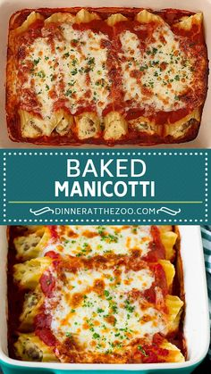 The best stuffed manicotti filled with sausage and cheese, then baked to golden brown perfection. The best stuffed manicotti filled with sausage and cheese, then baked to golden brown perfection. Baked Manicotti, Stuffed Manicotti, Stuffed Lasagna Shells, Stuffed Pasta Recipes, Chicken Manicotti, Spinach Manicotti, Cheese Manicotti, Stuffed Shells Recipe, Deserts