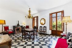 Ref. 37782 #realestate #mallorca #luxury #immobilien #luxus #histórica #historiches #herrenhaus #Soller #manor 570m2 built, large living rooms, fireplace, fully equipped kitchen with dining area, 6 double bedrooms, wardrobes, 3 bathrooms, toilet, cement tiled floors, heating, high ceilings, antique, noble wooden doors, stone patio and noble staircase, French balcony, possibility of parking.