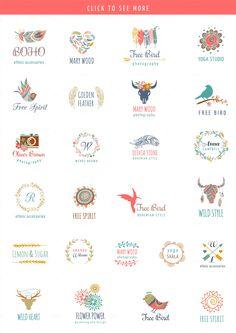 Bohemian Logos bundle + BONUS by Marish on @creativemarket