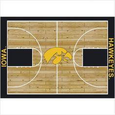 """College Court Iowa Hawkeyes Rug Size: 10' 9""""x13' 2"""" $718.80"""