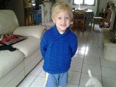 Pull bleu phildar 6 ans