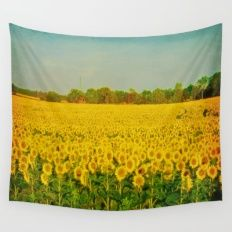 A Sea Of Sunflowers Wall Tapestry