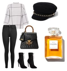 """""""Shopping Expert Outfit"""" by milibmug on Polyvore featuring L.K.Bennett, Steve Madden, Topshop, Gucci y River Island"""