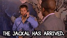 Psych. The Jackal has arrived. Shawn and Gus. From the Earth to the Starbucks. Season 1