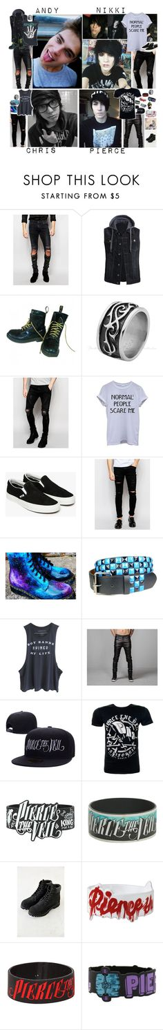 """Ootd : The Dead & Useless"" by believe-in-you-always ❤ liked on Polyvore featuring ASOS, Dr. Martens, Sik Silk, Vans, Cheap Monday, Timberland, living room, men's fashion and menswear"