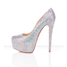 Christian Louboutin wedding shoes - Shoes and beauty Ballerinas, Crazy Shoes, Me Too Shoes, Big Shoes, Stilettos, High Heels, Christian Louboutin Shoes Sale, Looks Style, My Style