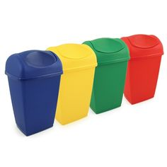 50L Swing Top Bin Blue - General Low Risk Areas Product Code: VZ.ST.50/B Yellow - Wash Basins & Washroom Surfaces Product Code: VZ.ST.50/Y Green - General Food & Bar Use Product Code: VZ.ST.50/G Red - Sanitary Fittings & Washroom Areas Product Code: VZ.ST.50/R