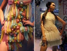 Spunky Dresses Crafted Out of Waste Materials and Other Sources Condom Gowns to promote Safe Sex and AIDS Awareness http://www.designbuzz.com/spunky-dresses-crafted-out-of-waste-materials-and-other-sources/