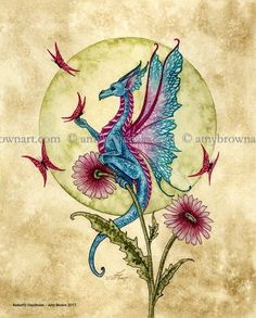 Fairy Art Artist Amy Brown: The Official Online Gallery. Fantasy Art, Faery Art, Dragons, and Magical Things Await. Amy Brown Fairies, Dark Fairies, Pencil Drawings Of Flowers, Fairy Drawings, Dragon Pictures, Dragon Pics, Beautiful Dragon, Dragon Artwork, Butterfly Dragon