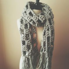 the pacific scarf // Chunky Cowl Wrap Shawl by OwlsNestCrochet