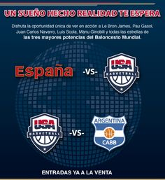 Baloncesto España-USA-Argentina. Pincha en la imagen para comprar tus entradas.