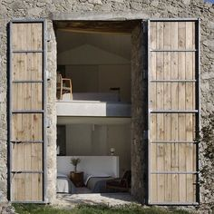 Ábaton Arquitectura Guijo de Santa Bárbara Cáceres Spain (Image: Ábaton) #archidaily #archilovers #architecture #instarchitecture #doors #stone #renovation #ábatonarchitects by lucdesign