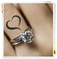 Heart on ring finger More