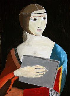 Děti měly za úkol překreslit a zároveň vtipně upravit portrét Leonarda Da Vinci Mona Lisa