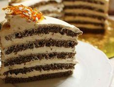Kastély torta - Blikk Rúzs Hungarian Desserts, Vanilla Cake, Tiramisu, Breakfast Recipes, Cake Decorating, Food And Drink, Sweets, Homemade, Cookies