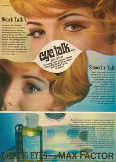 "Max Factor ""Eye Talk"" Cosmetics Ad"