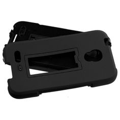 Insten Symbiosis Soft Silicone/ PC Dual Layer Hybrid Rubber Phone Case Cover with Stand For Alcatel One Touch Conquest