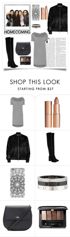 """Homecoming"" by marce104 ❤ liked on Polyvore featuring Polaroid, T By Alexander Wang, Charlotte Tilbury, Givenchy, Yves Saint Laurent, Cartier, Kate Spade, Guerlain, Homecoming and BlackAndGrey"